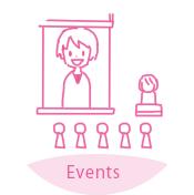 イベント映像用のコンテンツとして利用する